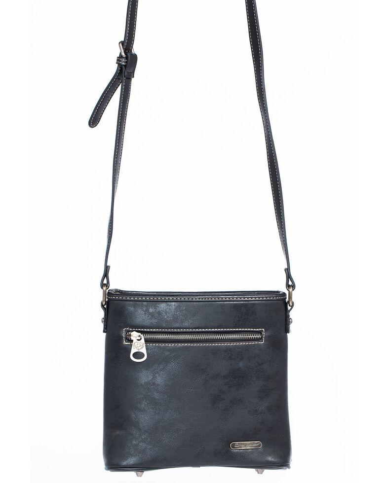 Shyanne Women's Glitter Underlay Crossbody Bag, Black, hi-res