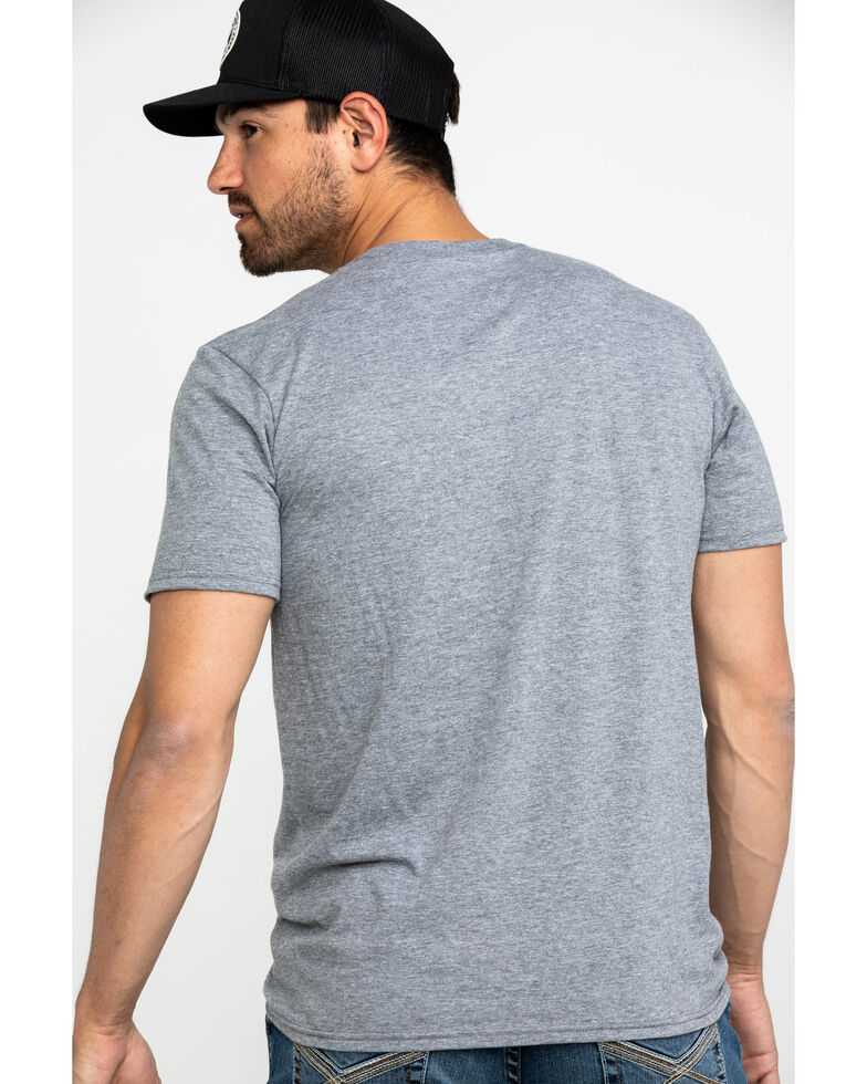 Cody James Men's Freedom Fight Graphic T-Shirt , Heather Grey, hi-res