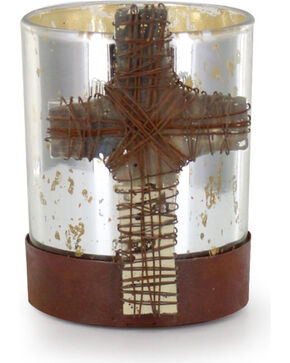 BB Ranch Bonded Faith Candle Holder , Silver, hi-res