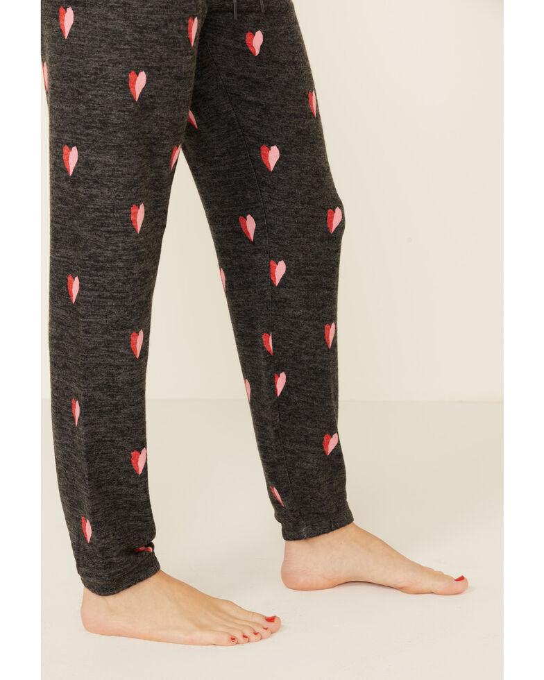 PJ Salvage Women's Lil Hearts Lounge Pants, Charcoal, hi-res
