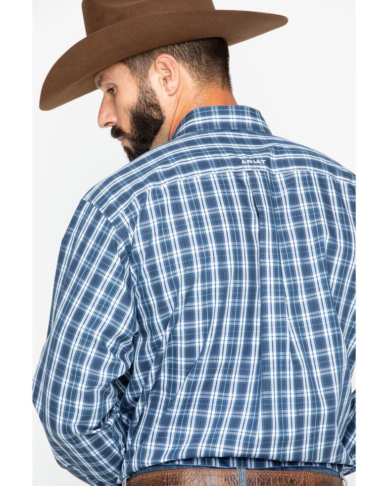 Ariat Men's Blue Zender Plaid Shirt , Blue, hi-res