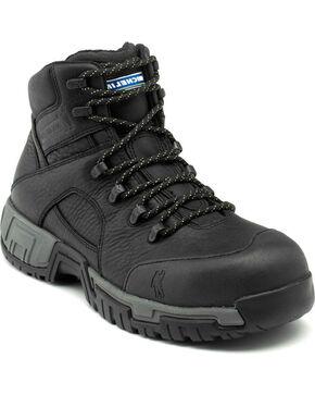 Michelin HydroEdge Puncture Resistant Waterproof Work Boots - Steel Toe, Black, hi-res