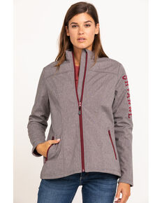 Shyanne Life Women's Heather Brown Softshell Jacket, Brown, hi-res
