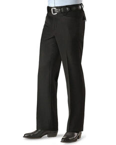 Circle S Men's Black Polyester Western Dress Ranch Pants - Big , Black, hi-res