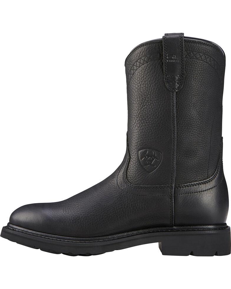 Ariat Men's Sierra Western Work Boots, Black, hi-res