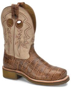 Double H Women's Oceana Western Work Boots - Steel Toe, Brown, hi-res