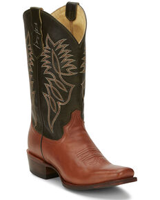 Justin Men's Honkytonkville Western Boots - Square Toe, Brown, hi-res