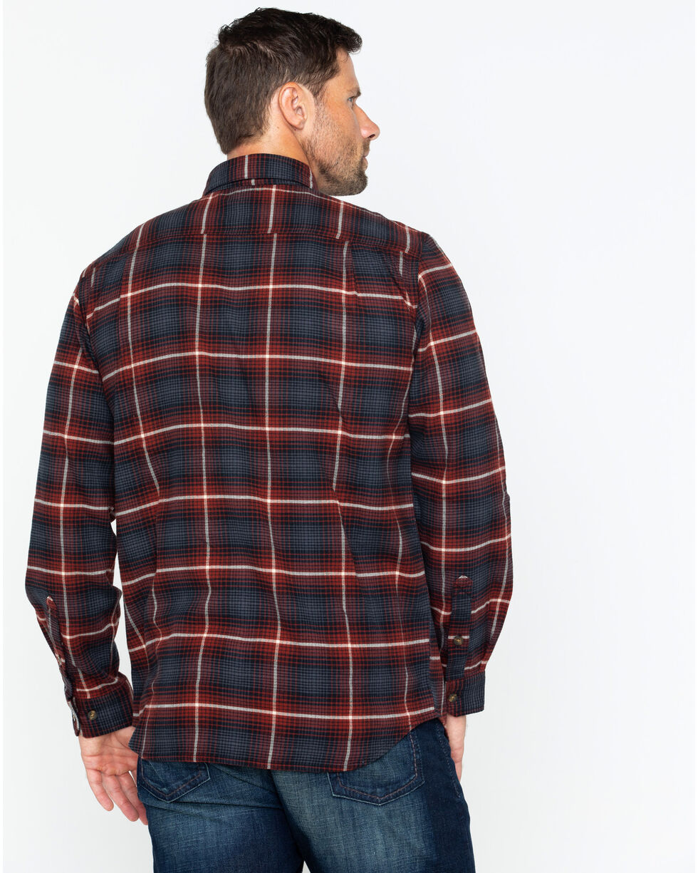 Carhartt Men's Rugged Flex Hamilton Plaid Shirt, Red/brown, hi-res
