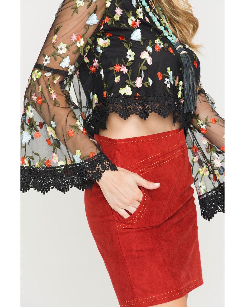 Jack Women's Black Clemin Floral Blouse , Black, hi-res