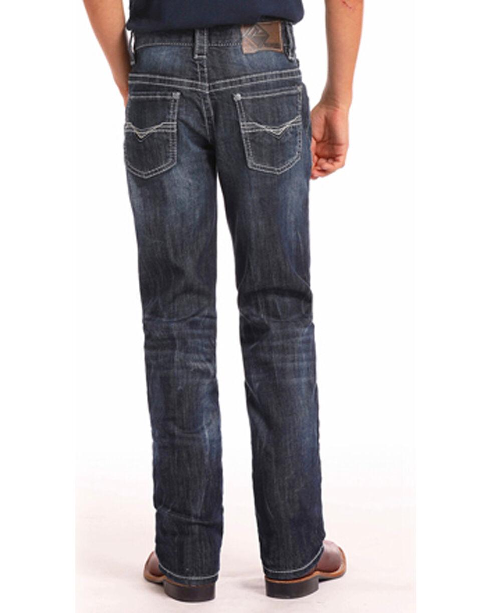 Rock & Roll Cowboy Boys' Reflex Revolver Dark Vintage Wash Jeans (4-20) - Boot Cut, Indigo, hi-res