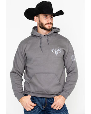 Buck Wear Men's Colors Reload Graphic Print Hoodie , Charcoal, hi-res