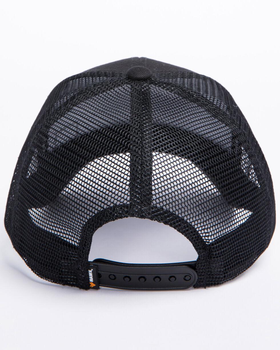 Hawx® Men's Black Woven Patch Trucker Cap, Black, hi-res
