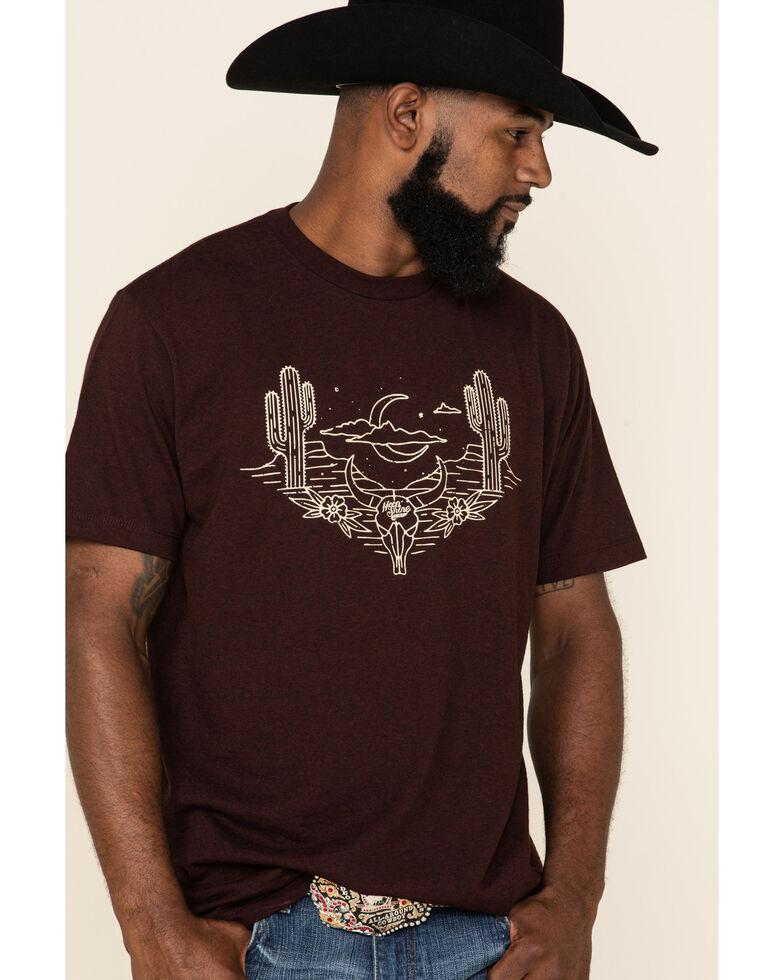 Moonshine Spirit Men's Peyote Graphic Short Sleeve T-Shirt , Burgundy, hi-res