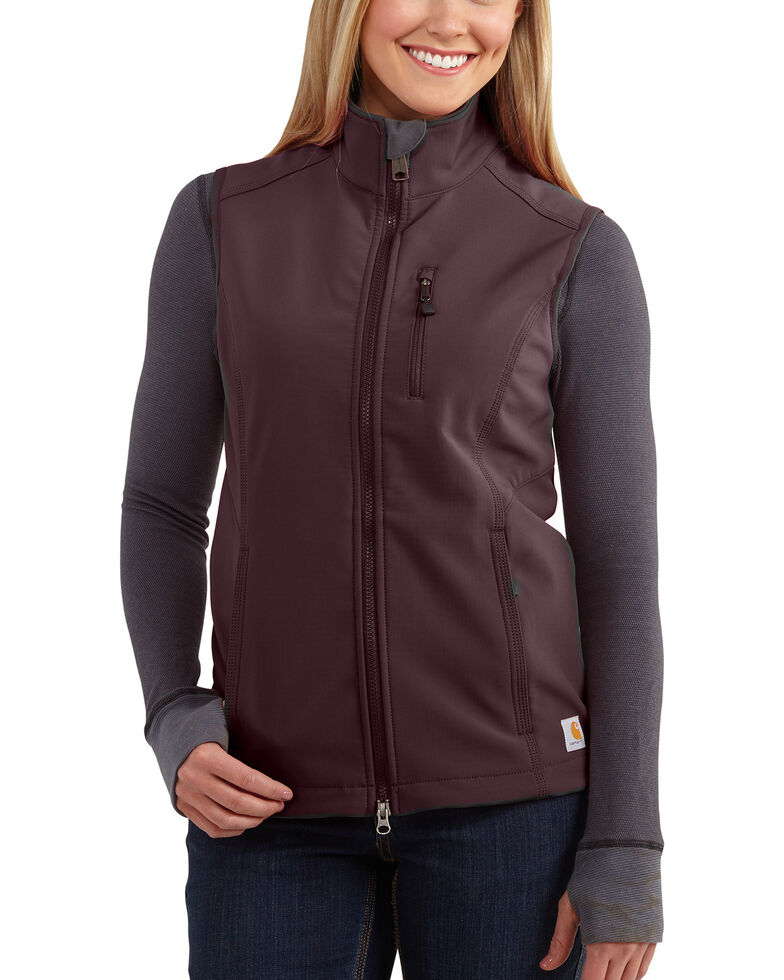 Carhartt Women's Denwood Vest , Wine, hi-res