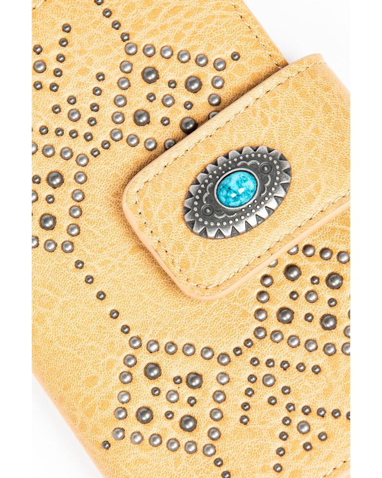 Shyanne Women's Fab Turquoise Concho Snap Wallet, Sand, hi-res