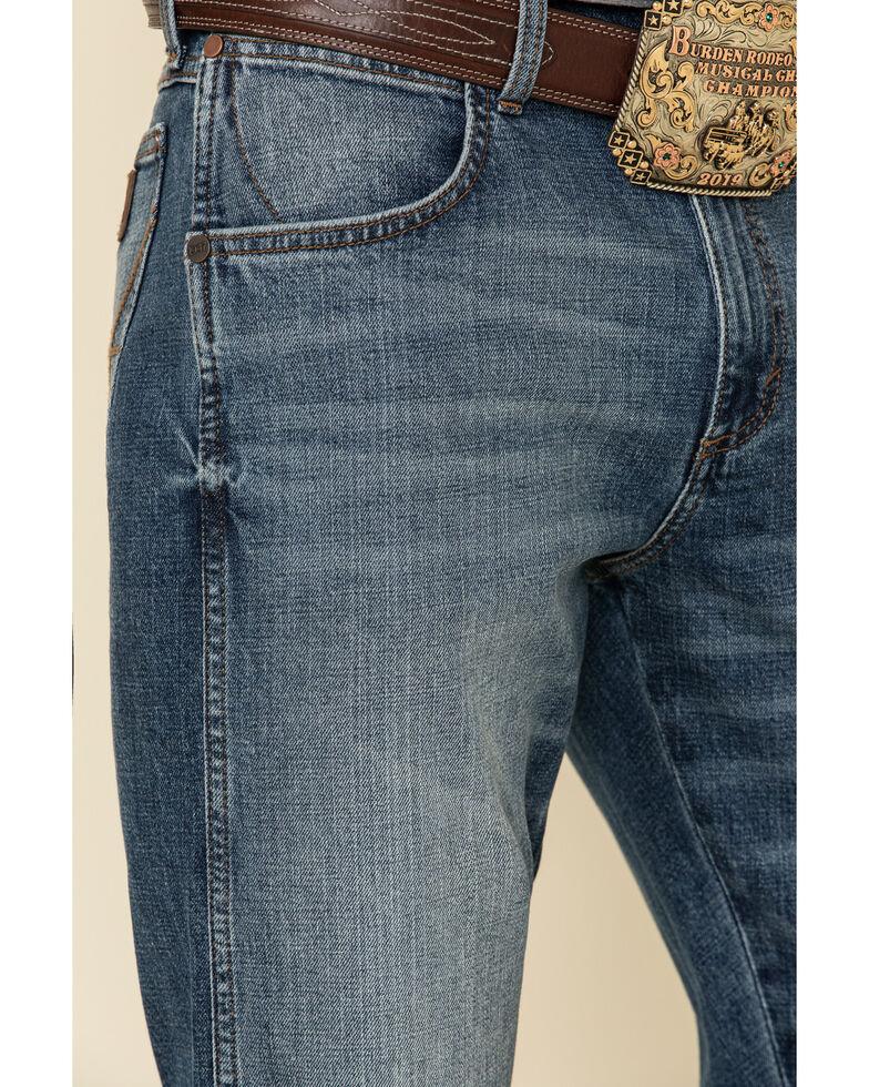 Wrangler Retro Men's Palmetto Medium Wash Stretch Slim Bootcut Jeans , Blue, hi-res