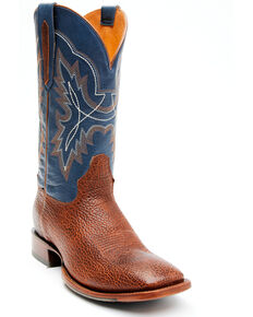 Cody James Men's Whiskey Blues Western Boots - Wide Square Toe, Blue, hi-res