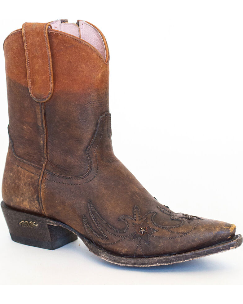 Miss Macie Women's Brown Weatherford Boots - Snip Toe , Brown, hi-res