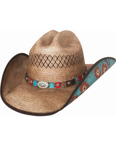 Bullhide Women's Too Good Straw Cowboy Hat , Natural, hi-res