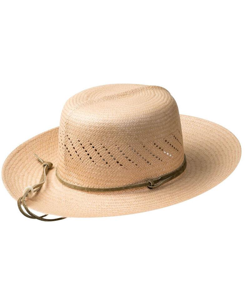 Bailey Dark Natural River-Roll Up Panama Straw Western Hat , No Color, hi-res