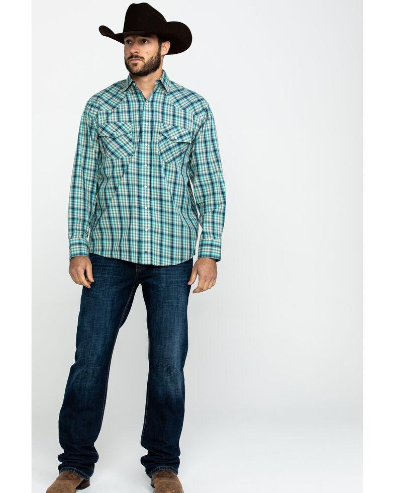 Resistol Men's Uptmore Multi Small Plaid Long Sleeve Western Shirt , Multi, hi-res