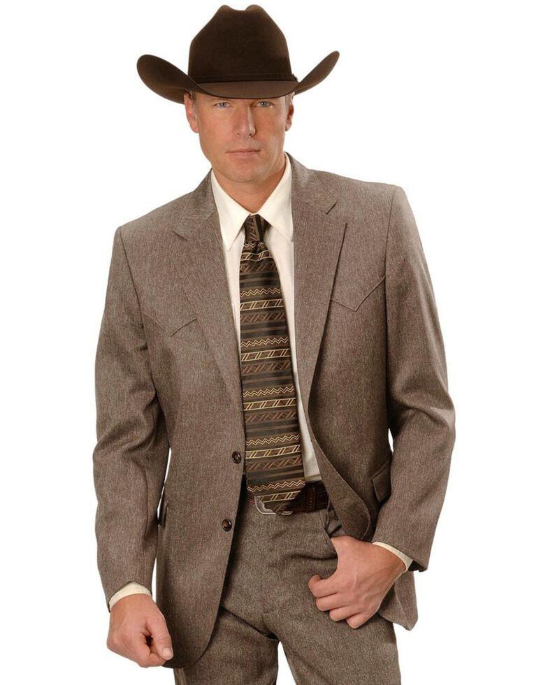 Circle S Men's Lubbock Suit Coat - Short, Reg, Tall, Hthr Chestnut, hi-res