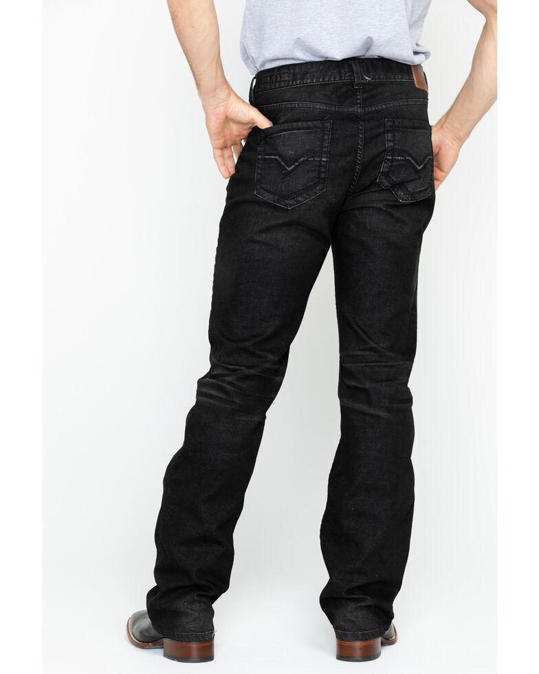 Moonshine Spirit Men's Tar Pit Black Wash Slim Straight Jeans , Black, hi-res