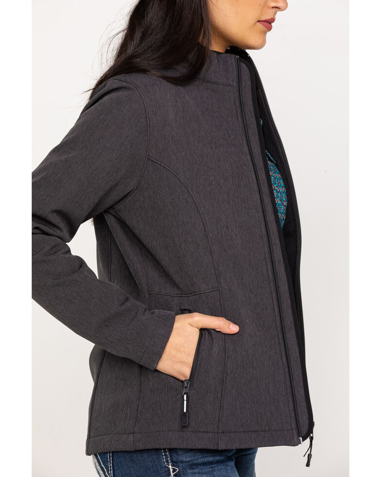 Roper Women's Grey Softshell Jacket, Grey, hi-res