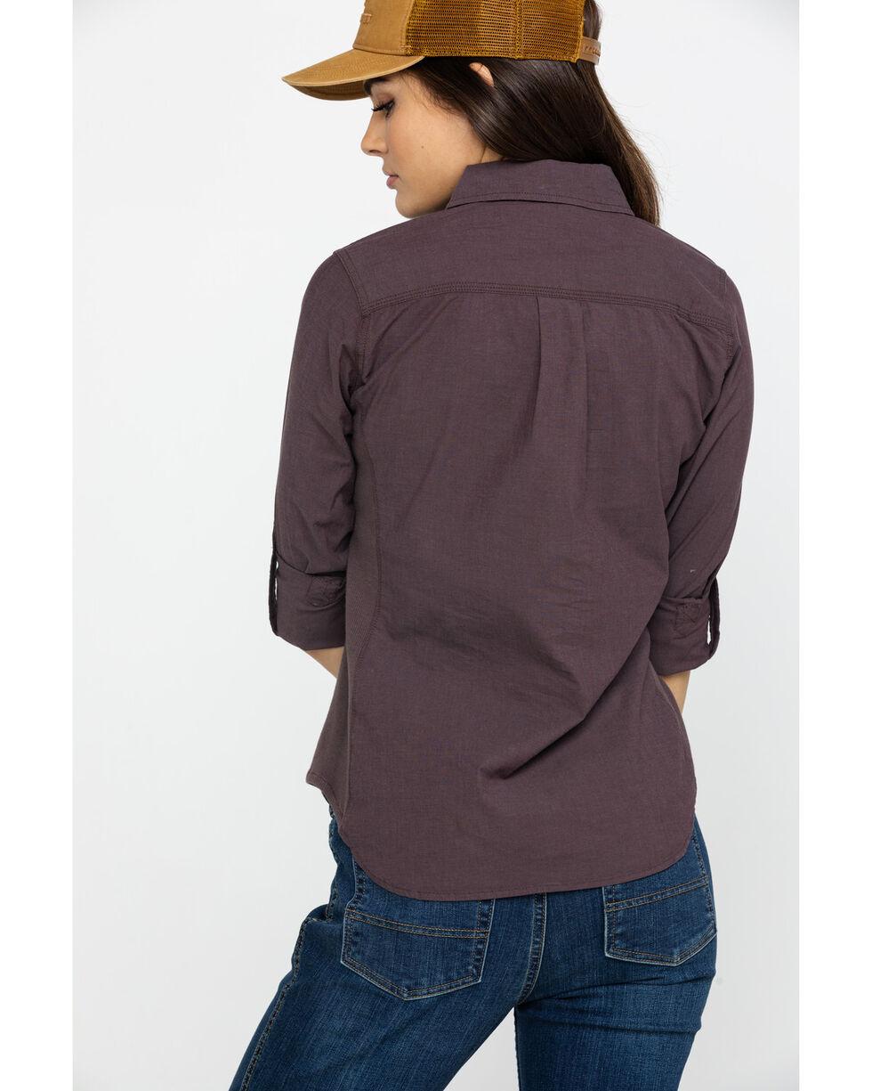 Carhartt Women's Wine Rugged Flex Bozeman Shirt, Wine, hi-res