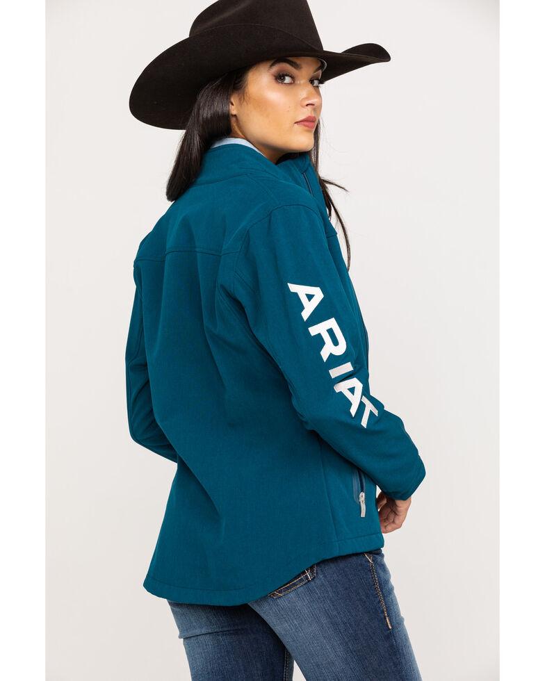 Ariat Women's Teal Heather Team Softshell Jacket, Blue, hi-res