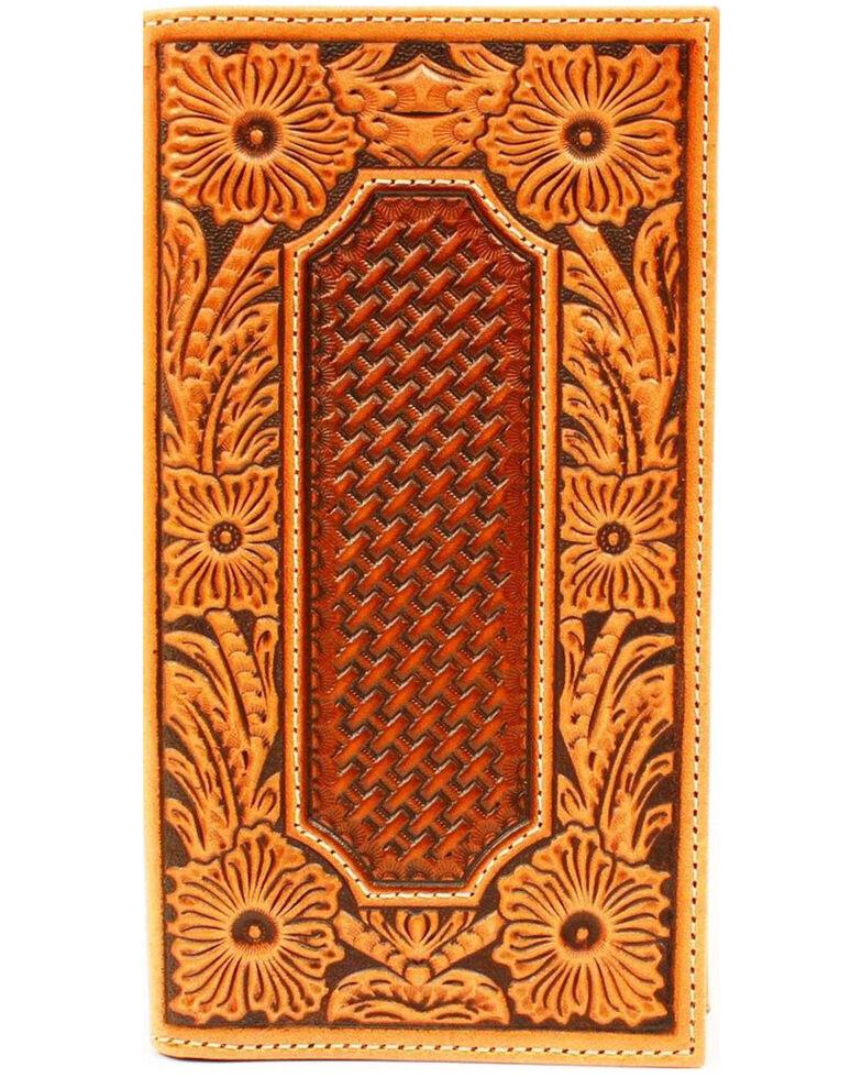 Ariat Men's Rodeo Basket Floral Wallet, Tan, hi-res