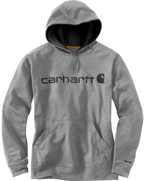 Carhartt Men's Extremes Signature Graphic Hooded Sweatshirt , Dark Grey, hi-res