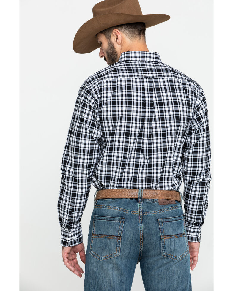 Ariat Men's Oildale Med Plaid Fitted Long Sleeve Western Shirt , Multi, hi-res