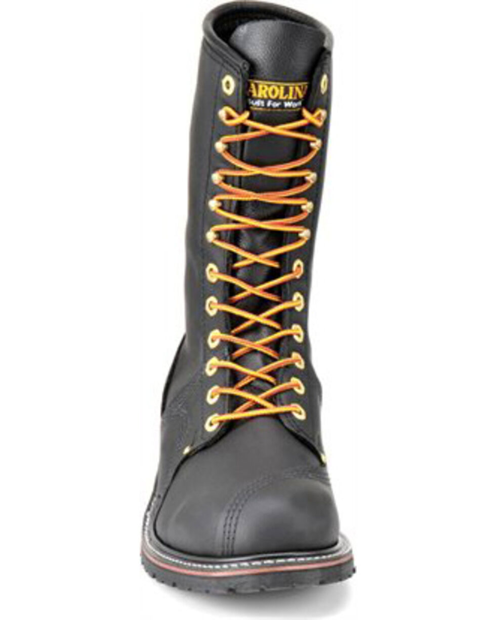 Carolina Men's Black Linesman Workboots - Steel Toe, Black, hi-res