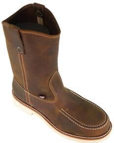 Thorogood Men's American Heritage Western Work Boots - Steel Toe, Brown, hi-res