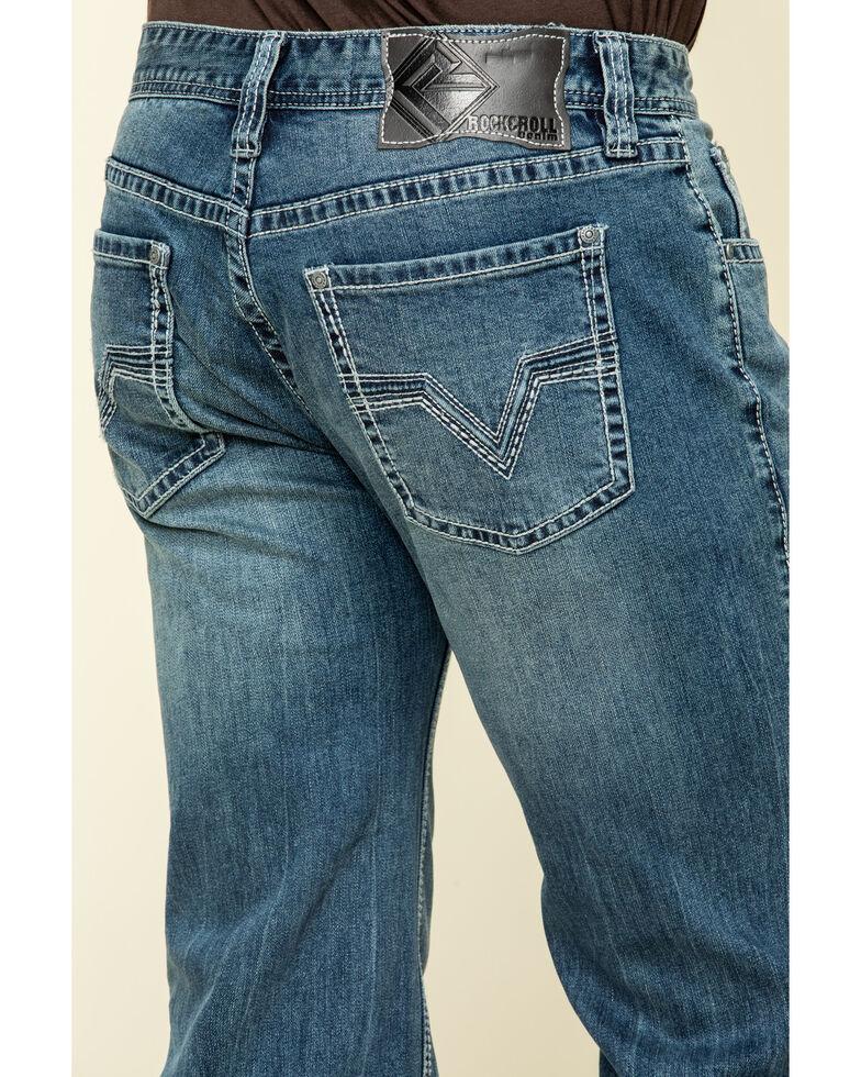 Rock & Roll Cowboy Men's Pistol Med Vintage Med Stretch Straight Jeans , Blue, hi-res