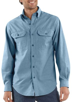 Carhartt Fort Long Sleeve Work Shirt - Big & Tall, Chambray, hi-res
