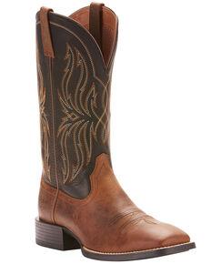 Ariat Men's Rustler Brute Western Boots - Square Toe, Brown, hi-res
