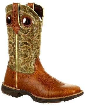 Durango Women's Ultra-Lite Western Boots - Square Toe, Chocolate, hi-res