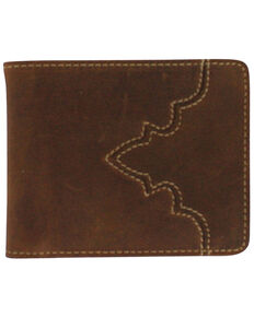 Cody James Men's Bi-Fold Pass Case Wallet, Brown, hi-res