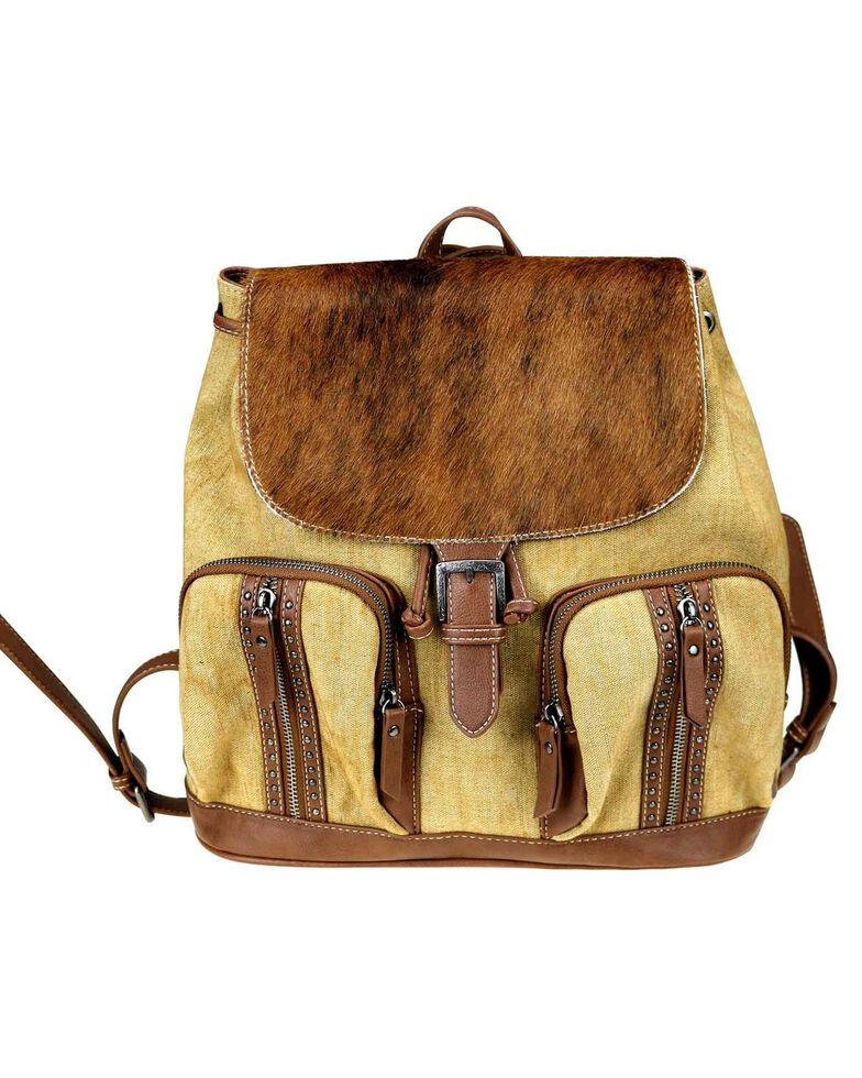 Montana West Women's Trinity Ranch Cowhide Backpack, Brown, hi-res