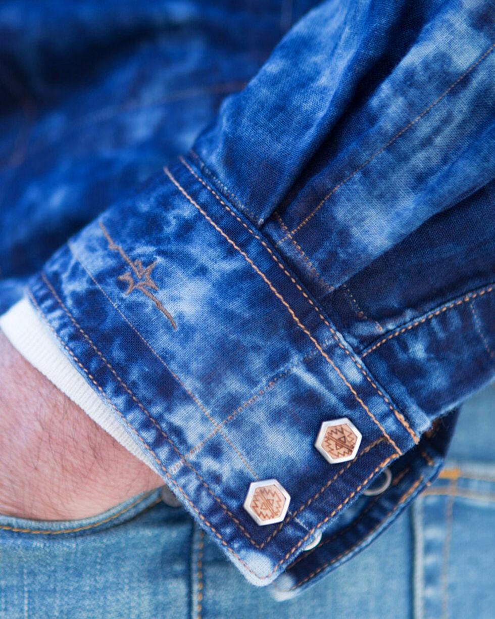 Ryan Michael Men's Indigo Double Cloth Shirt , Indigo, hi-res
