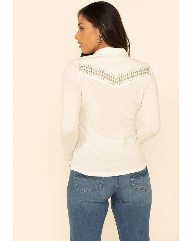 Idyllwind Women's Snappy Western Button Top , Ivory, hi-res