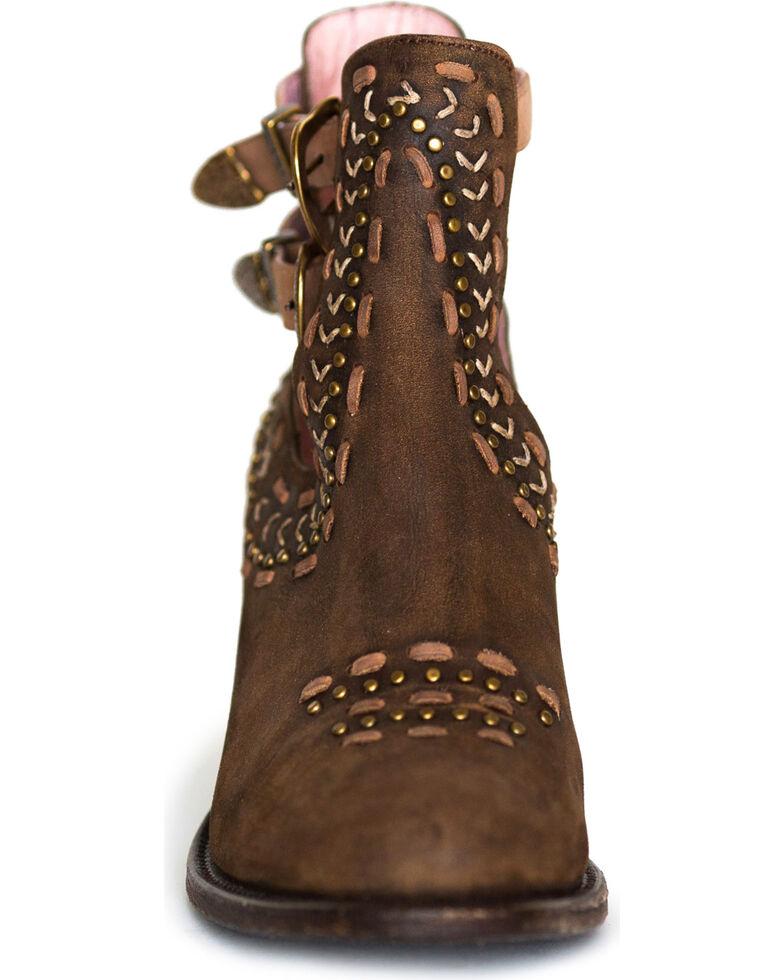 Miss Macie Women's Brown Geez Louise Booties - Round Toe, Brown, hi-res