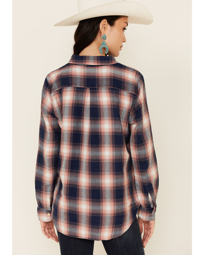 Flag & Anthem Women's Emerald Multi Plaid Long Sleeve Snap Western Core Shirt , Navy, hi-res