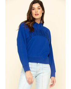 Wrangler Modern Women's Blue Retro Hoodie, Blue, hi-res