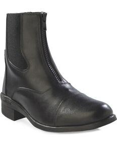 Old West Women's Chelsea Zipper Short Riding Boots, Black, hi-res