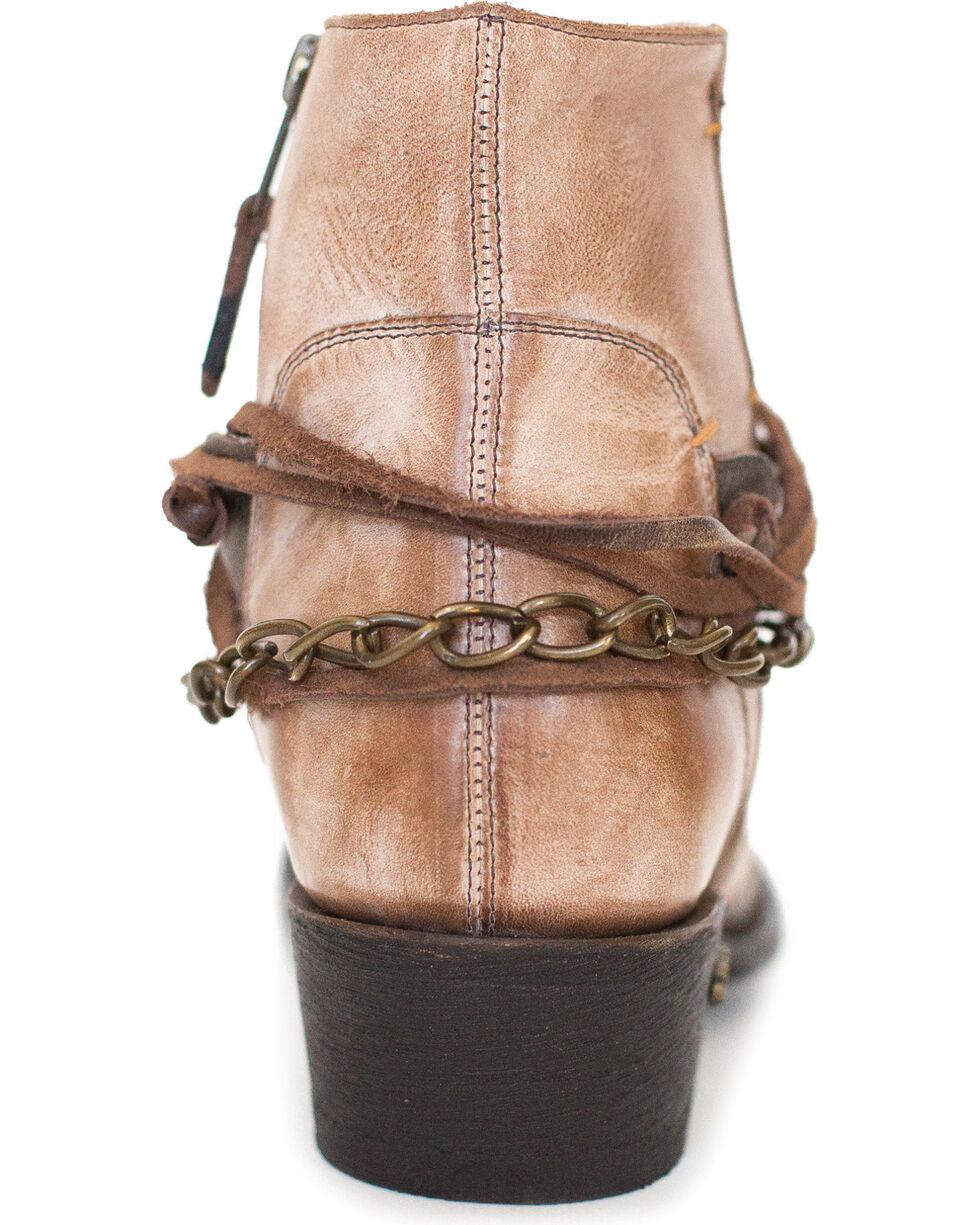 Miss Macie Women's Light Brown Desert Dancer Booties - Medium Toe , Lt Brown, hi-res
