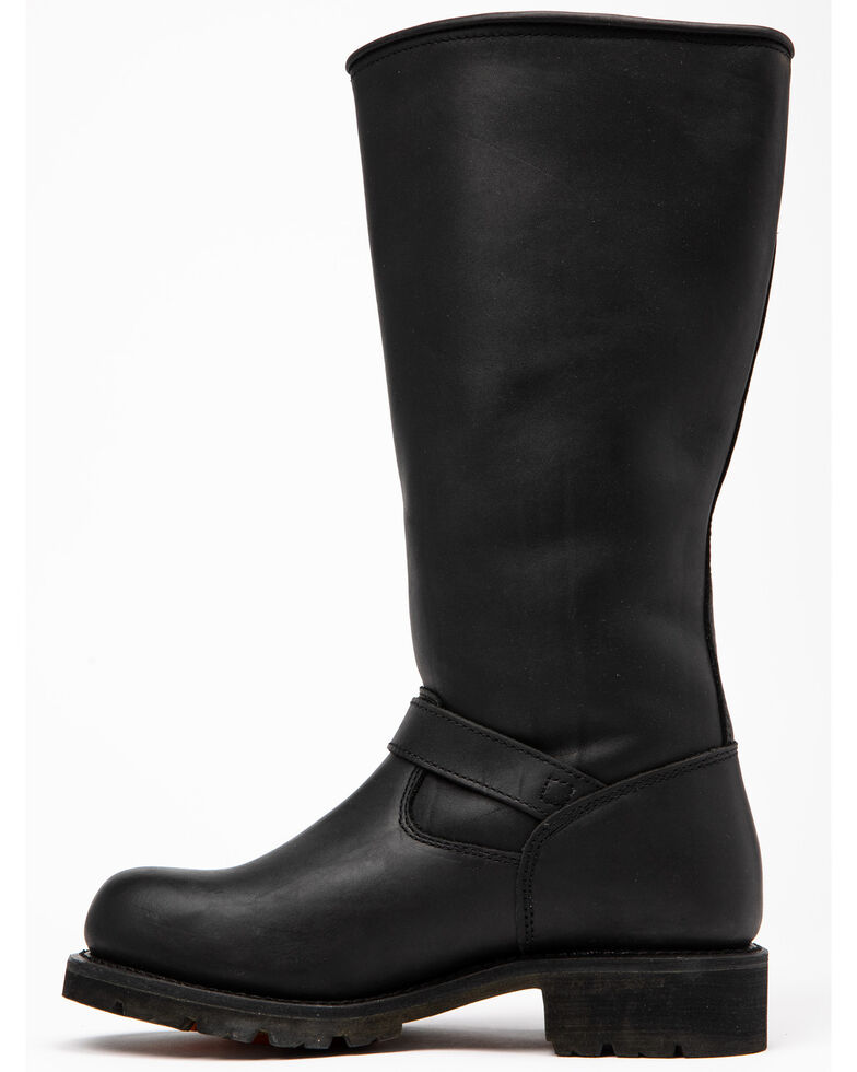 """Ad Tec Men's 16"""" Oiled Leather Engineer Boots - Soft Toe, Black, hi-res"""