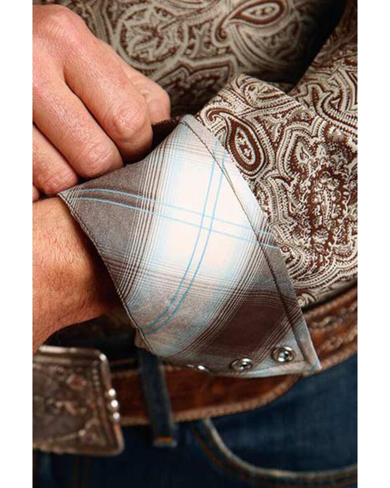 Stetson Men's Grey Cocoa Paisley Print Long Sleeve Western Shirt , Grey, hi-res